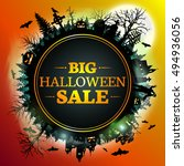 Sale. Halloween Discount Banner.