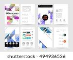 geometric background template... | Shutterstock .eps vector #494936536