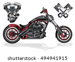 vector illustration of red... | Shutterstock .eps vector #494941915