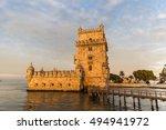 belem tower in lisbon | Shutterstock . vector #494941972