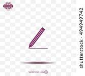 pencil icon   vector...   Shutterstock .eps vector #494949742