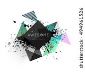 geometric background template... | Shutterstock .eps vector #494961526