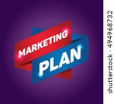 marketing plan arrow tag sign. | Shutterstock .eps vector #494968732
