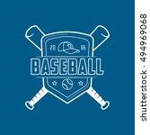 baseball emblem line icon on... | Shutterstock .eps vector #494969068