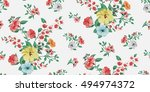 seamless floral pattern in... | Shutterstock .eps vector #494974372