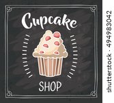 cupcake of bakery food design | Shutterstock .eps vector #494983042