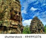 siem reap  cambodia   august... | Shutterstock . vector #494991076