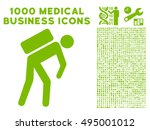 courier icon with 1000 medical... | Shutterstock .eps vector #495001012