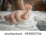 the process of making pizza | Shutterstock . vector #495003736