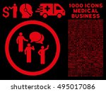 red forum persons vector... | Shutterstock .eps vector #495017086