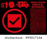 red check vector rounded icon....