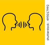 talking line icons. | Shutterstock .eps vector #495017992