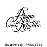 black ink hand lettering... | Shutterstock .eps vector #495018988
