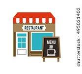 delicious menu restaurant urban ... | Shutterstock .eps vector #495031402