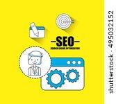 search engine optimization flat ... | Shutterstock .eps vector #495032152