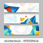 set of horizontal web banners... | Shutterstock . vector #495039616