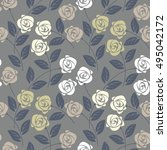 beautiful seamless pattern with ... | Shutterstock .eps vector #495042172