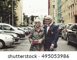 toned picture.. elderly man and ... | Shutterstock . vector #495053986