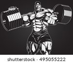 vector illustration  strict... | Shutterstock .eps vector #495055222