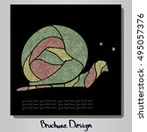 design square brochure with... | Shutterstock .eps vector #495057376