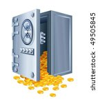 Open Safe With Gold Coins...