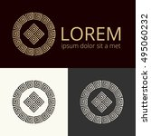 vector logotype. vector luxury... | Shutterstock .eps vector #495060232