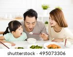 happy asian young family enjoy... | Shutterstock . vector #495073306