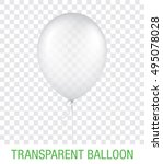 transparent vector balloon ... | Shutterstock .eps vector #495078028