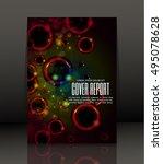 template design for cover.... | Shutterstock .eps vector #495078628
