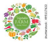 vegetables design menu. vector... | Shutterstock .eps vector #495117622