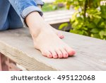 girl enjoy the afternoon in... | Shutterstock . vector #495122068