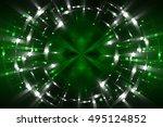 abstract fractal green... | Shutterstock . vector #495124852