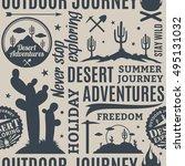typographic vector desert... | Shutterstock .eps vector #495131032