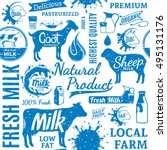 retro styled typographic vector ... | Shutterstock .eps vector #495131176
