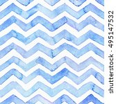 blue watercolor seamless... | Shutterstock . vector #495147532