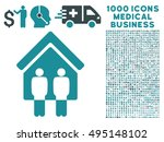 living persons icon with 1000... | Shutterstock .eps vector #495148102