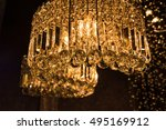 diamond chandelier   Shutterstock . vector #495169912