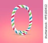 mint hard candy cane vector... | Shutterstock .eps vector #495183412