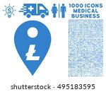litecoin map marker icon with... | Shutterstock .eps vector #495183595