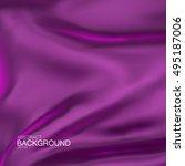 purple silk fabric. vector... | Shutterstock .eps vector #495187006
