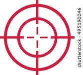 red target   cross hair | Shutterstock .eps vector #495190246