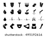 flat style web icon set.... | Shutterstock .eps vector #495192616