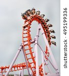 rollercoaster ride | Shutterstock . vector #495199336