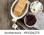 cookies chocolate and... | Shutterstock . vector #495206275