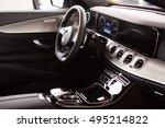 luxury car interior   Shutterstock . vector #495214822