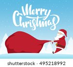 vector illustration  santa... | Shutterstock .eps vector #495218992