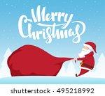 vector illustration  santa... | Shutterstock .eps vector #495218992
