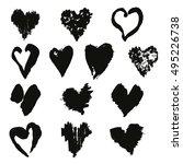 collection of elegant hand... | Shutterstock . vector #495226738