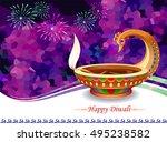 peacock diwali lamp | Shutterstock .eps vector #495238582