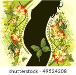 vector illustration of pregnancy | Shutterstock .eps vector #49524208